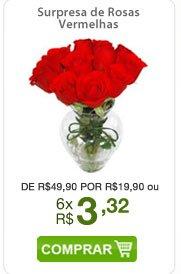 Surpresa de Rosas Vermelhas de R$49,90 por R$19,90